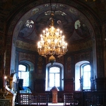 "The interior of church ""St Nicolae"" Roznov"