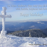 Happy birthday on Saint Andrew's Day!