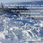 Happy birthday on Saint Nicholas' Day!