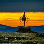 Sunset and sunrise on top of Ceahlau Massif