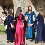 Princesses and knights at Neamţ Fortress