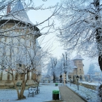 Breath of winter over the Princely Court in Piatra-Neamţ