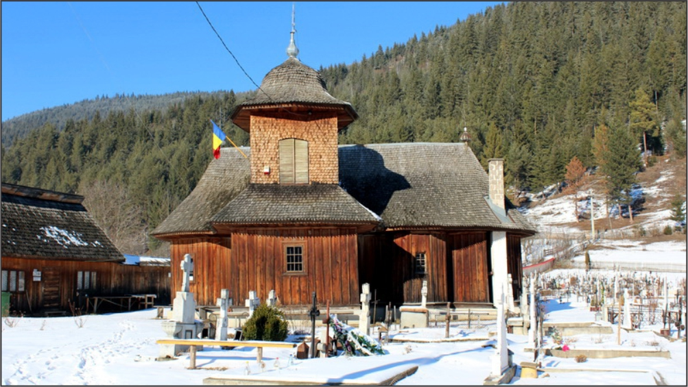 Wooden church Grinţieş video