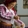 Maria Robu – local artisan from Sabaoani commune, Neamt County