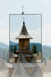 Traditional wood churches architecture
