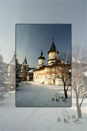 Secu Monastery during winter 2012